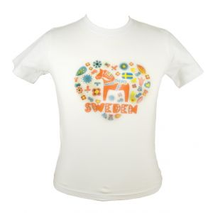 T-shirt Vit Sweden Barn